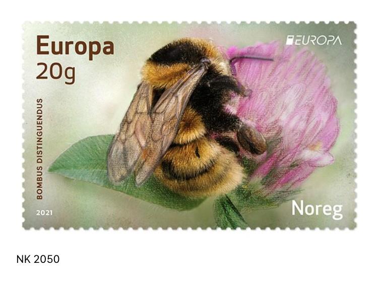kløverhumle frimerke